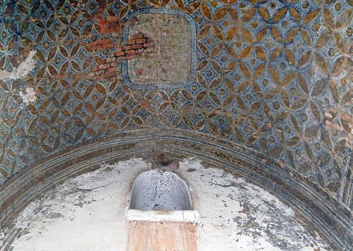 Painted Pattern on Ceiling of Ananda Temple in Bagan, Myanmar