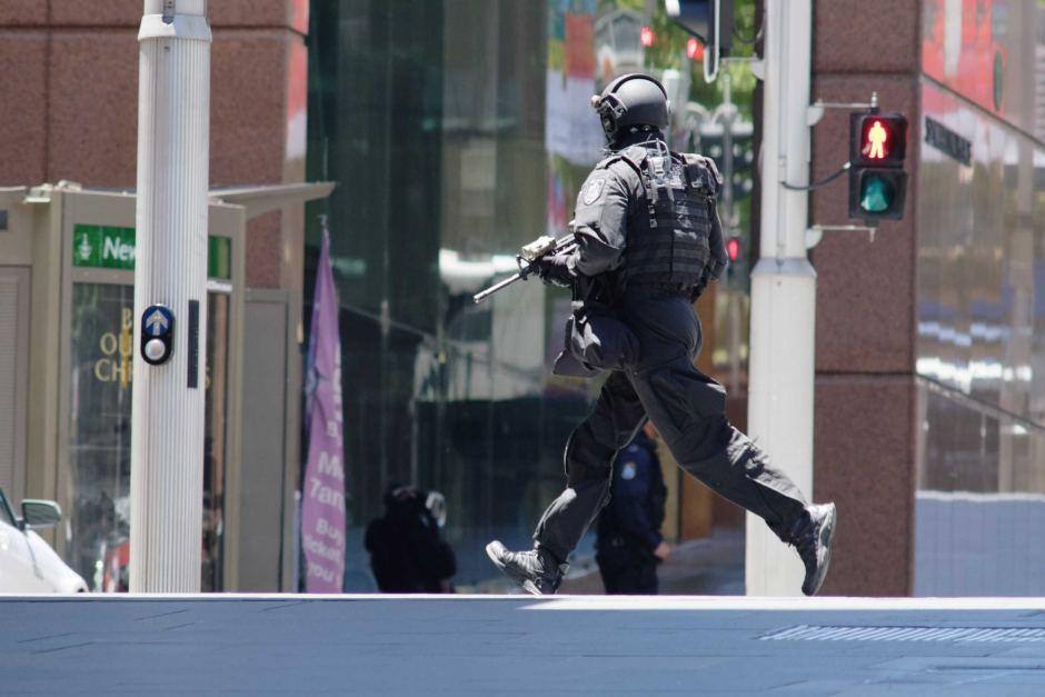 Police near Martin Place