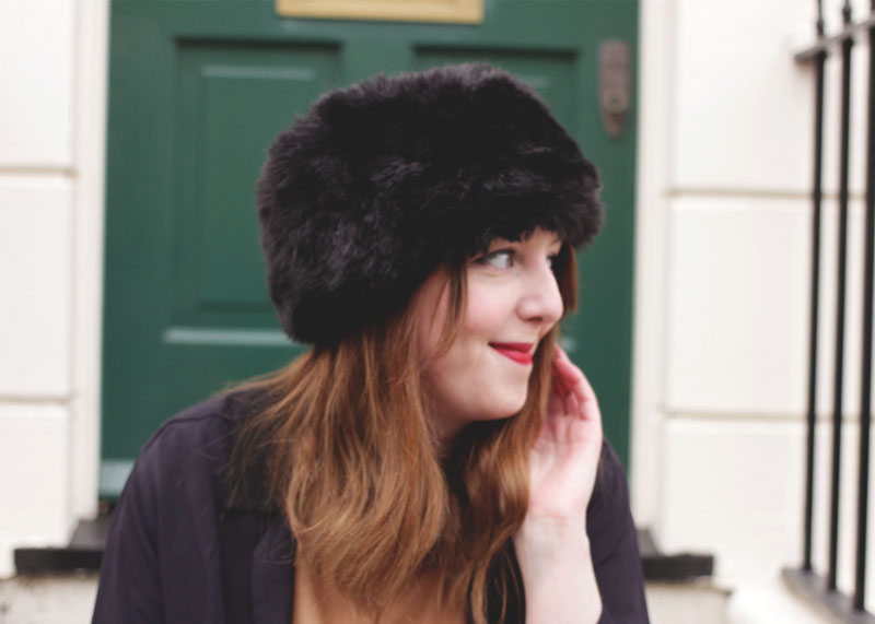 Topshop Furry Hat, Bumpkin Betty UK Style Blog