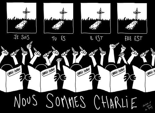 Nous sommes Charlie, par Marine des Mazery - Les étudiants du CESAN rendent hommage