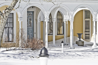 Crosby Mansion in Snow