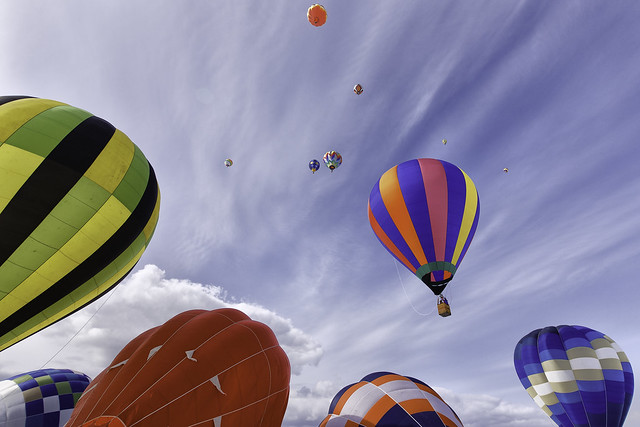 Hot-air Balloons in the Sky