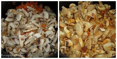 Kuracie s mrkvou a sampinonmi v syrovej omacke