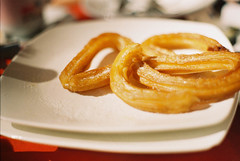 meal(0.0), breakfast(0.0), produce(0.0), junk food(1.0), fried food(1.0), food(1.0), dish(1.0), dessert(1.0), cuisine(1.0), snack food(1.0), churro(1.0), danish pastry(1.0),