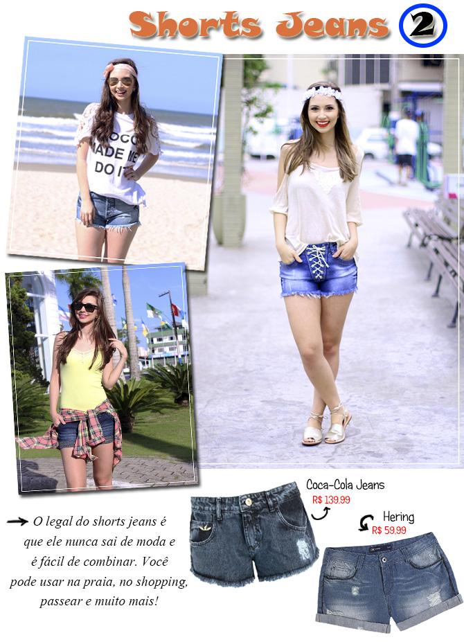 shorts jeans para o verão