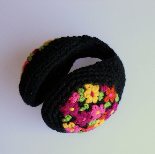 embroidered earmuffs