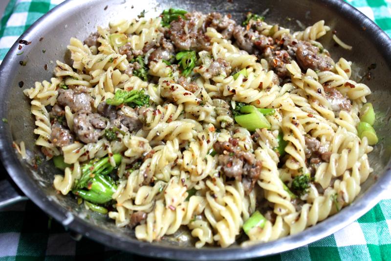 Spicy Sausage and Broccolini Fusili
