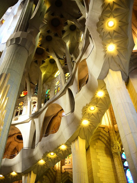 Spain Barcelona La Sagrada Familia inside 1