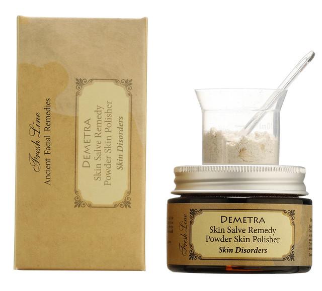 DEMETRA skin salve remedy powder skin POLISHER with cap