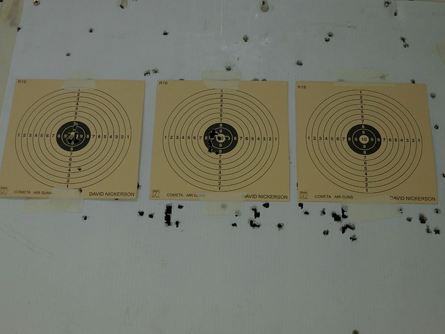 Another 12 shots into the middle target.