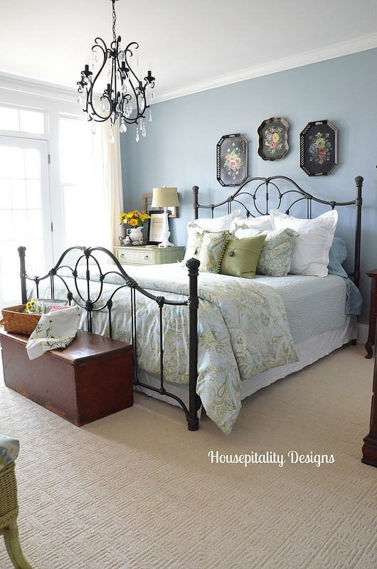 Guest Bedroom/antique chest-Housepitality Designs