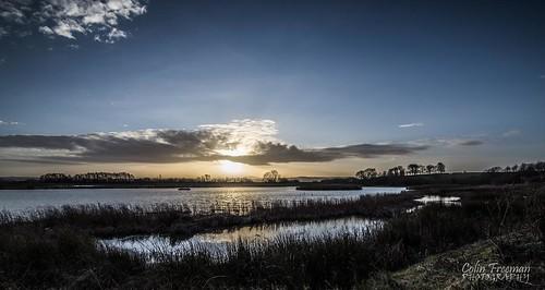 blue sunset shadow sky cloud sun lake color colour reflection bird nature wet water grass landscape nikon vivid tokina filter d750 marsh f28 burton wirral rspb 1116mm