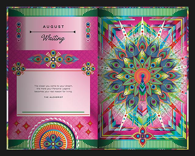Catalina Estrada, Illustrations for Paulo Coelho's 2015 Day Planner