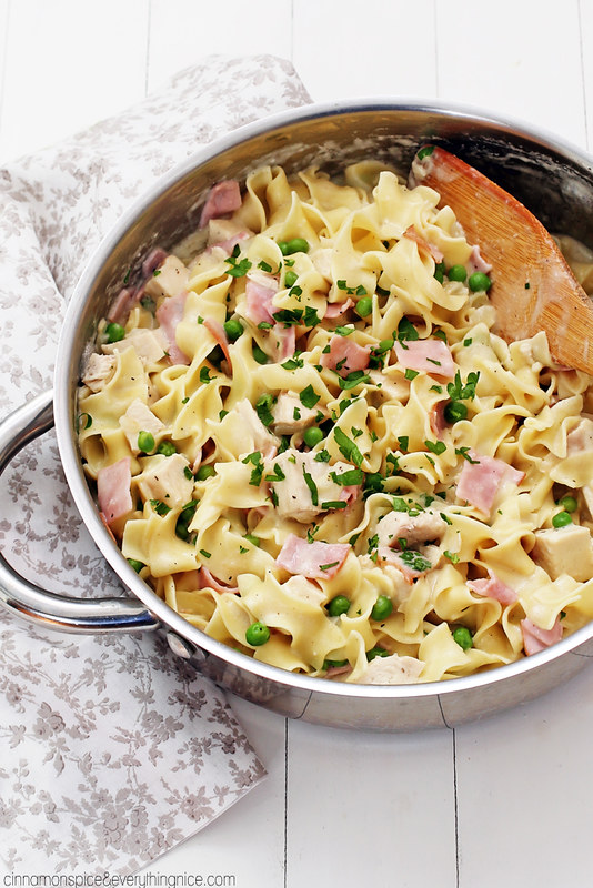 All the deliciousness of chicken cordon blue in a quick and easy skillet pasta!