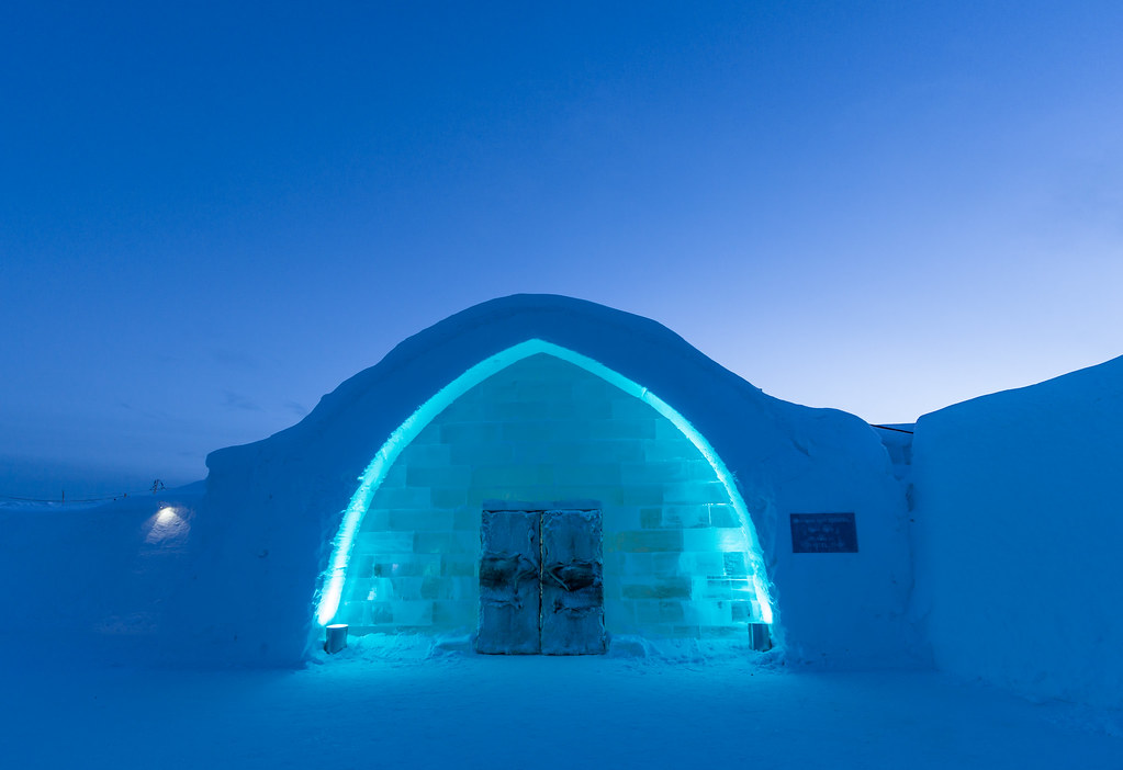 Icy entrance - ICEHOTEL Jukkasjärvi, north Sweden [Explore #5 thank you all!]