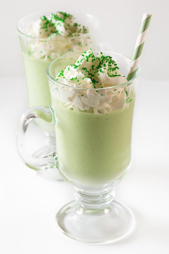 Celebrate St. Patrick's Day with these Luck of the Irish Pistachio Milkshakes