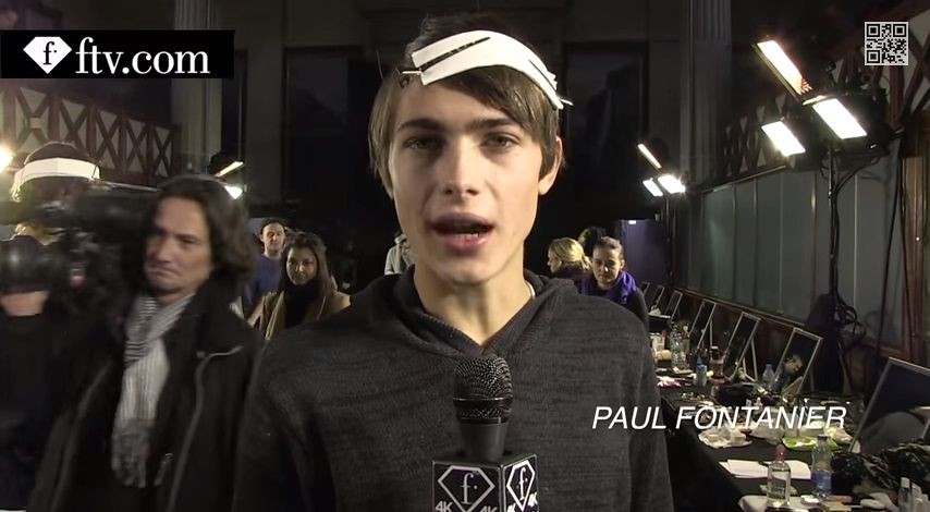 Paul Fontanier3031_FW15 Paris Kris Van Assche(youtube.com)