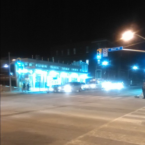 The new Dufferin station aglow #toronto #ttc #dufferinstreet #bloorstreetwest #bloordale #dufferin