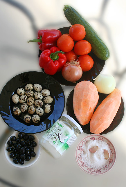 ingredientes para la pizza paleo