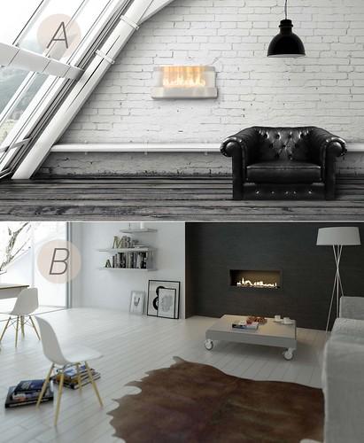 Modern fireplace from Planika