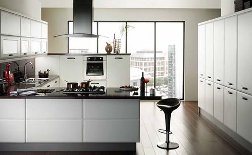 Ideas Design Modern Kitchen White Cupboards