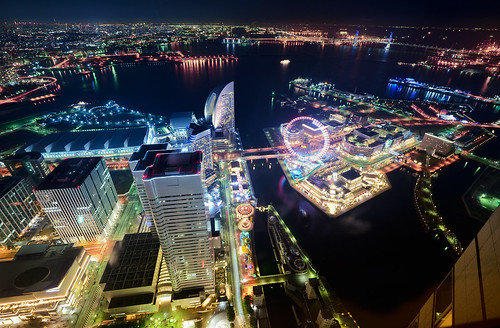 ocean city longexposure bridge building japan night port tokyo office nightview yokohama kanagawa minatomirai 横浜 landmarktower queenssquare ランドマークタワー d600 1635mm