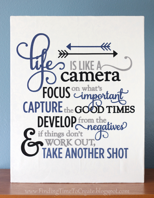 Life is Like a Camera wall decor by Kelly Wayment