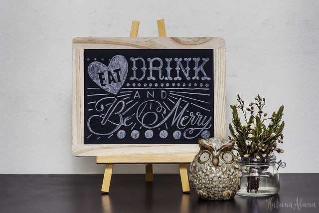 Eat Drink and Be Merry Chalkboard Art