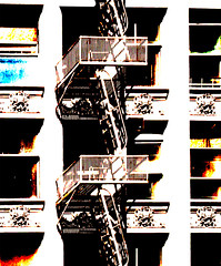 fire escape and windows