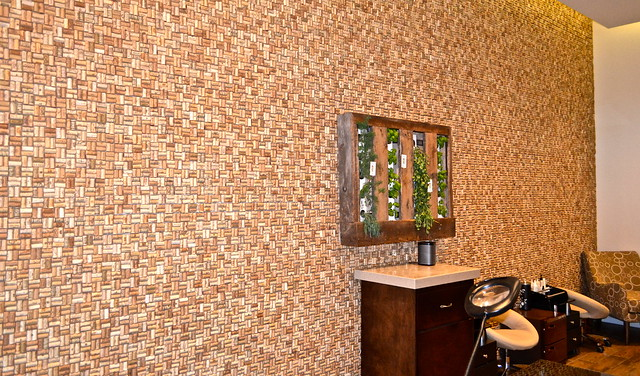 20,000 corks on a wall - Evangeline Spa - Epicurean Hotel Tampa florida