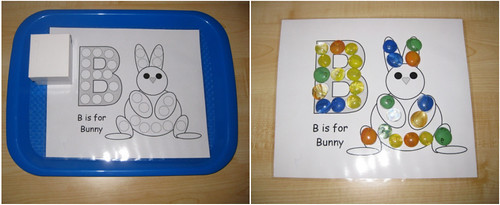 B is for Bunny Activity (Photo from Counting Coconuts)