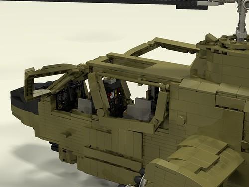 AH-1G Huey Cobra left cockpit closeup