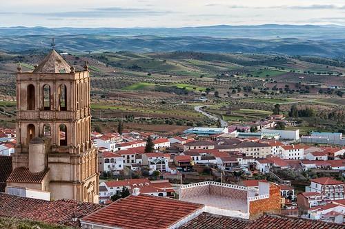 Vistas de Tierra de Barros desde la Sierra Grande de Hornachos