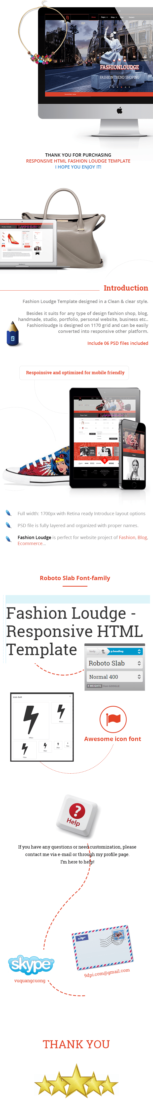 Fashion Loudge - Responsive HTML Template