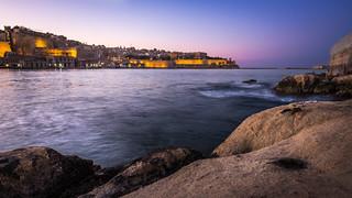 Valletta at sunset - Senglea, Malta - Seascape photography