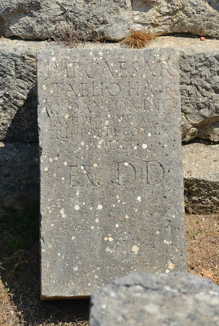 Inscription dedicated to Antoninus Pius in 140 AD, Byllis, Albania