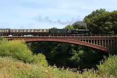"Great Western Railway steam locomotive 7802 ""Bradley Manor"" on Victoria Bridge"