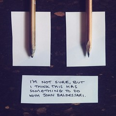 In response to John Baldessari The Pencil Story 1972–3