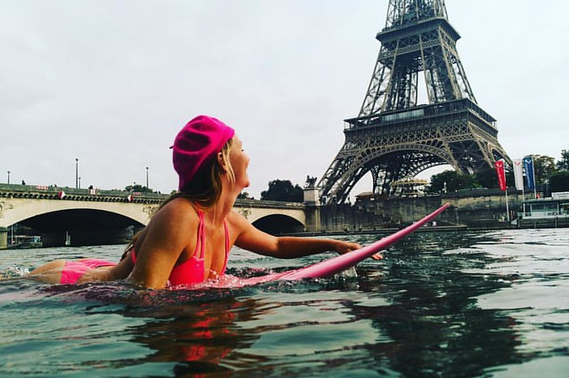 @alisonsadventures getting a little wild, looking for waves in the Seine.  Photo taken on the @DxoOne + #OutdoorShell.  If anyone's at #PPE2016, stop by the DxO booth 545 and say HI! 👋