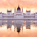 Crazy Morning Sunrise and mirror in Budapest by Loïc Lagarde