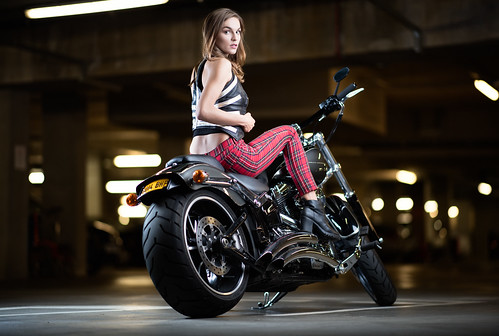 Harley Davidson & Model Shoot