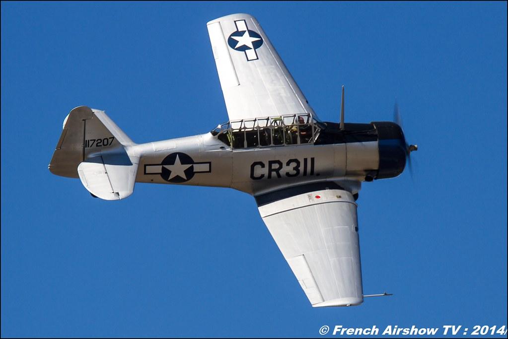 North American T6, F-AZTL des ailes anciennes de Corbas, Meeting des 60 ans de l'ALAT 2014 ,Cannet des Maures