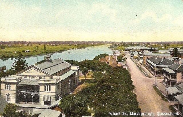Wharf Street, Maryborough, Qld. Australia - circa 1920