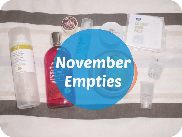 November 2014 Beauty EMpties