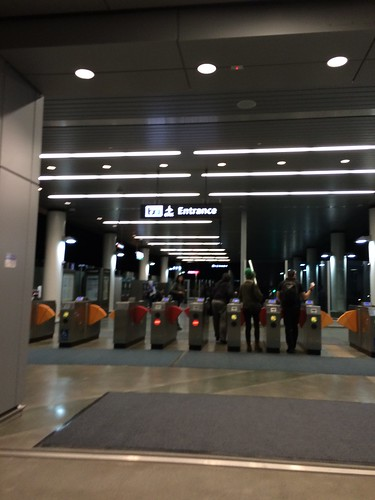 New BART to OAK Airport Connection entrance/exit