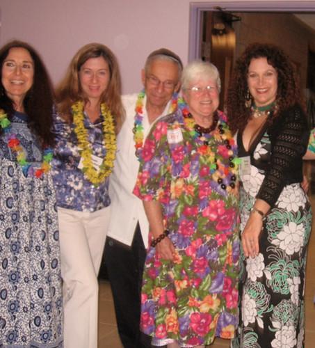 12-11-09-CA-Westminster-Temple Beth David-Hawaiian Hanukkah Party-ABL, Rabbi Nancy Myers, Cantor Nancy Linder