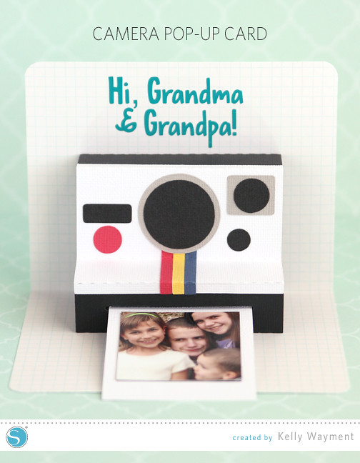 Camera pop up card by Kelly Wayment for Silhouette