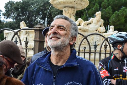 Renato Accorinti - Sindaco di Messina - Pedalata Contro la Duchenne e Becker