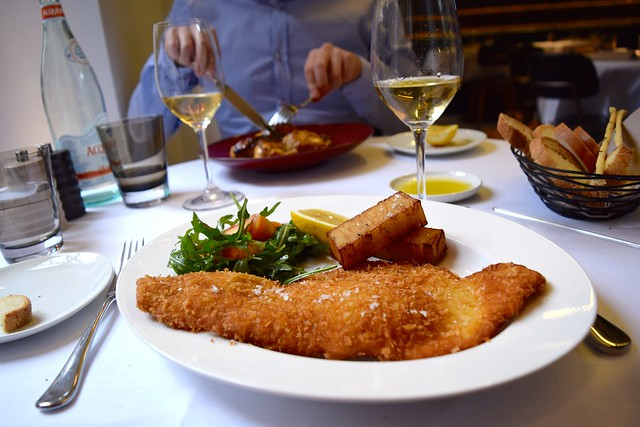 Veal Schnitzel at Toto's in Knightsbridge