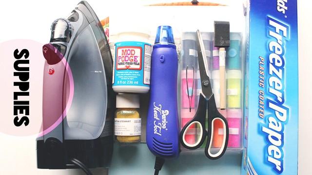 glitter canvas bags | supplies